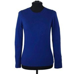 J Crew Royal Blue Cotton-Wool Teddie Sweater